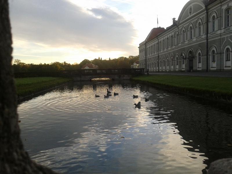 Schloss Nymphenburg mit Enten, illustrierend zur Blogparade #tchhparade