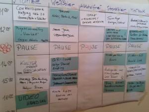 Vorläufiger Sessionplan des stARTcamps München 2012