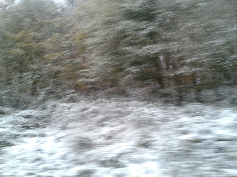 Schnee im Herbst; Oktober; Weserberland