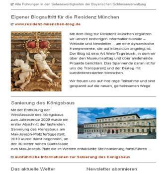 Website, Residenzmuseum, München