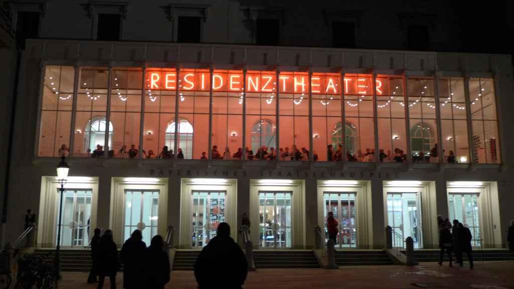 Residenztheater by night.