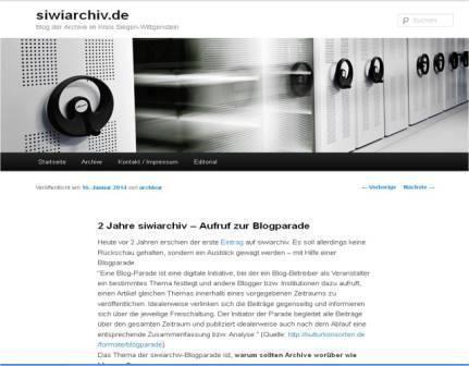 """Blogparade """"soll ein Archiv bloggen und worüber"""", siwiarchiv"""