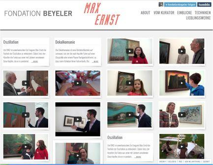 Screenshot Blog Fondation Beyeler
