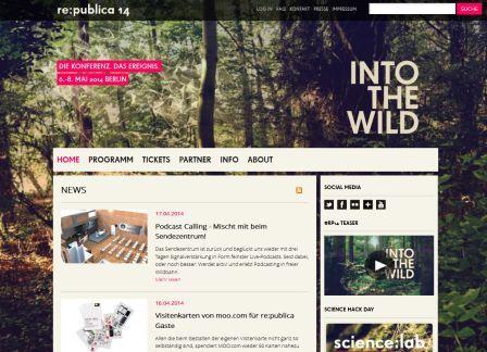 re:publica 2014 INTO THE WILD