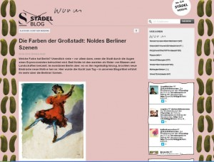 Städel Blog, Frankfurt
