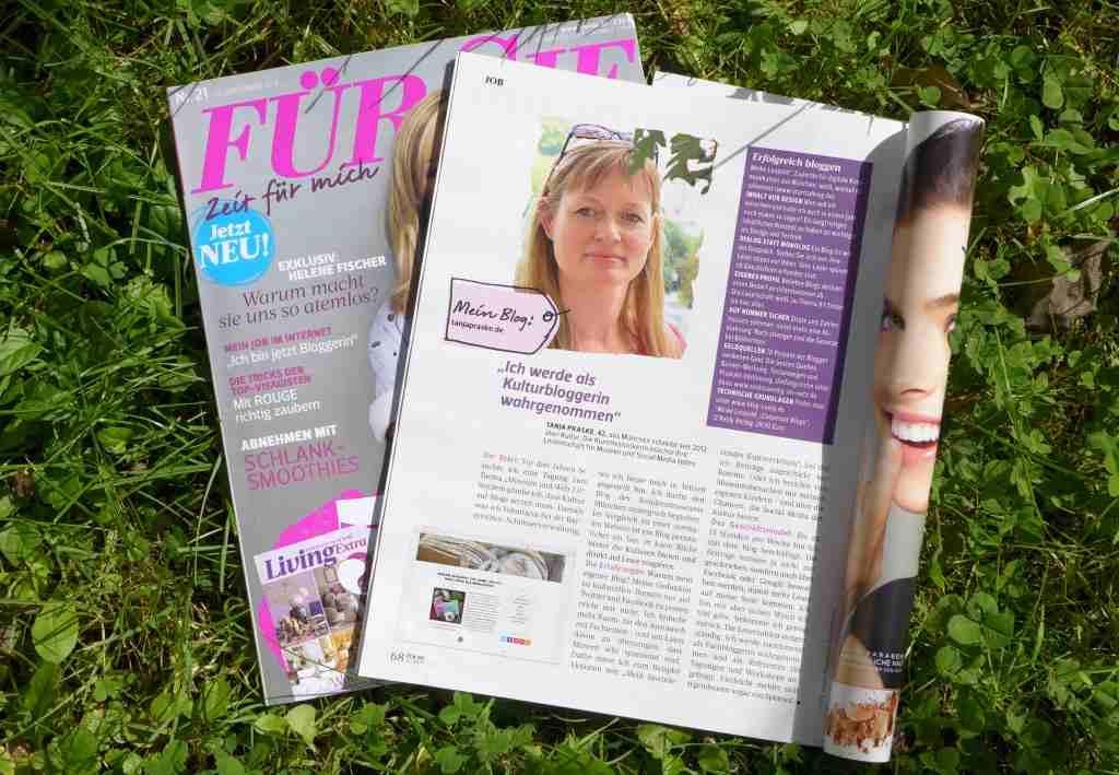 """Reportage über Bloggerinnen in der """"Fur Sie"""""""