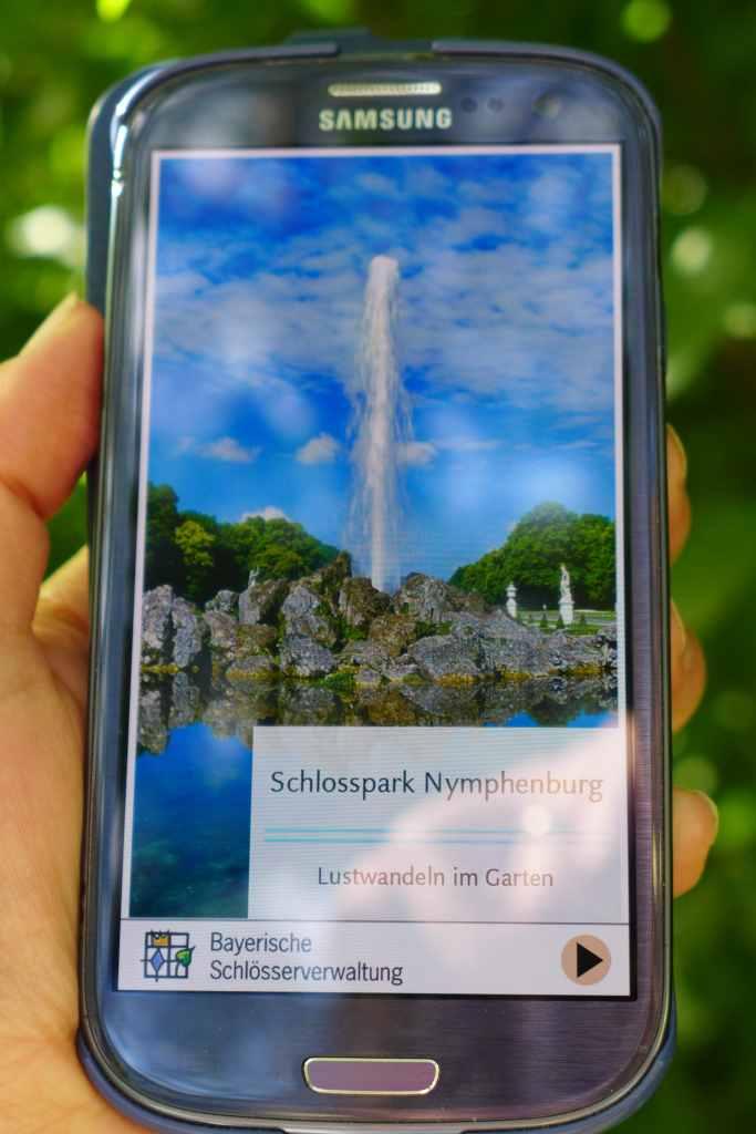 """App """"Schlosspark Nymphenburg. Lustwandeln im Garten"""""""