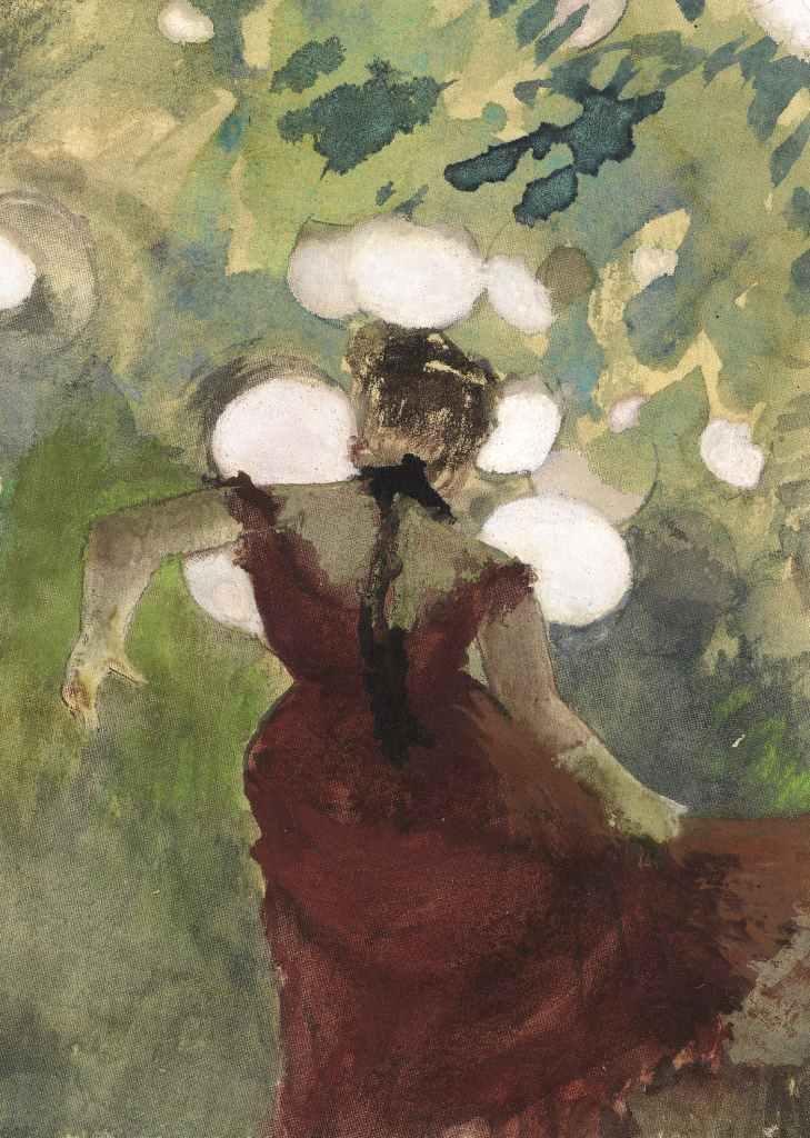 Edgar Degas; Sängerin in einem Pariser Gartencafé; Staatliche Kunsthalle Karlsruhe