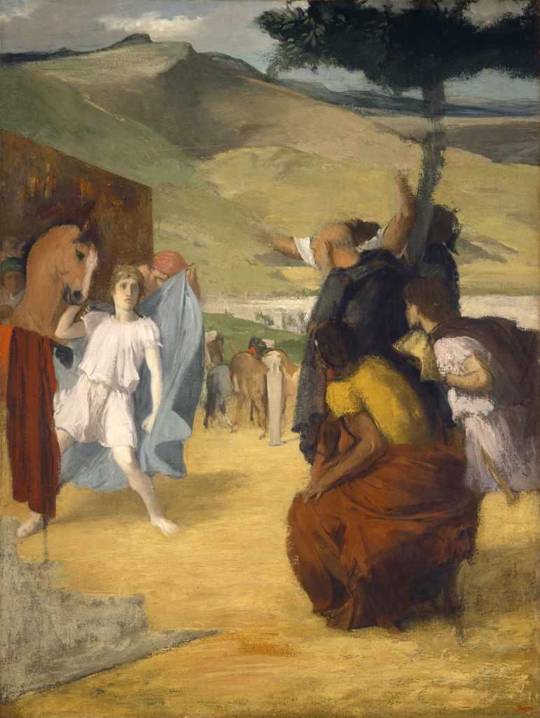 Edgar Degas, Alexander und Bucephalus, 1861/62, Courtesy National Gallery of Art, Washington