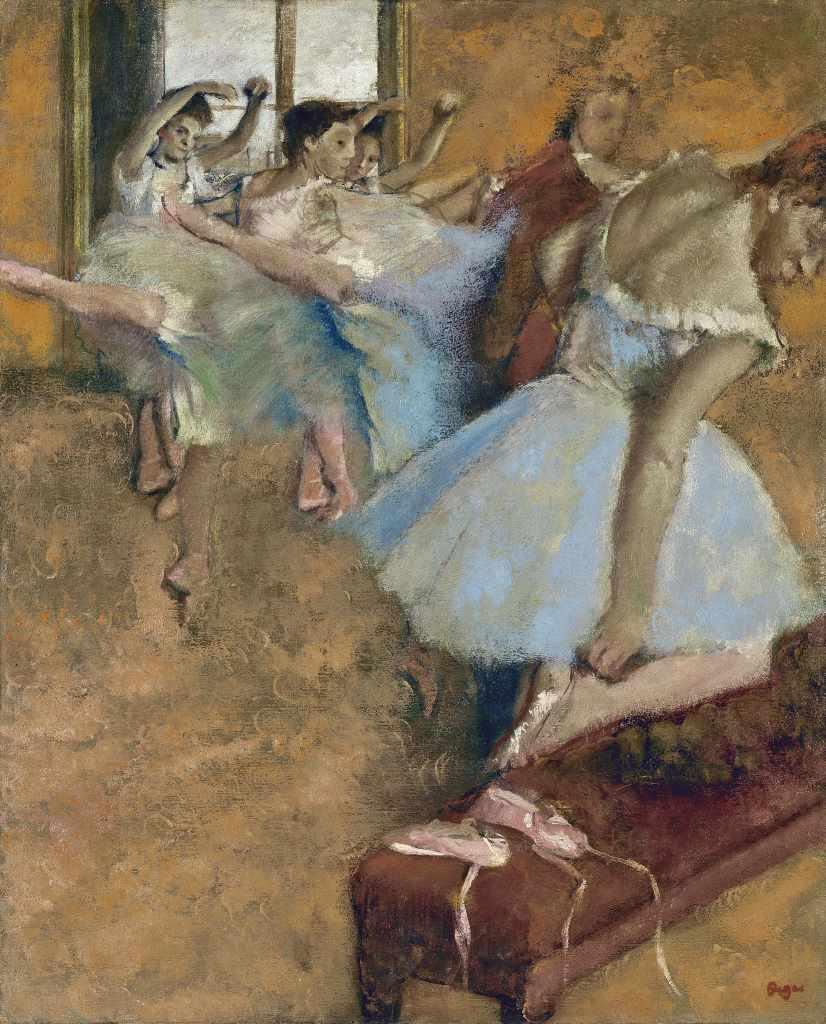 Edgar Degas, Ballettklasse, um 1880, Privatsammlung