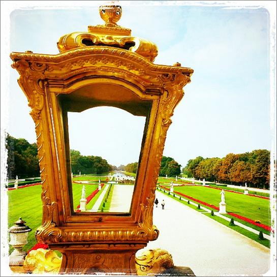 Perspektiven in Nymphenburg - jetzt fehlen nur noch die Kostümierten! [Foto: Tanja Praske]
