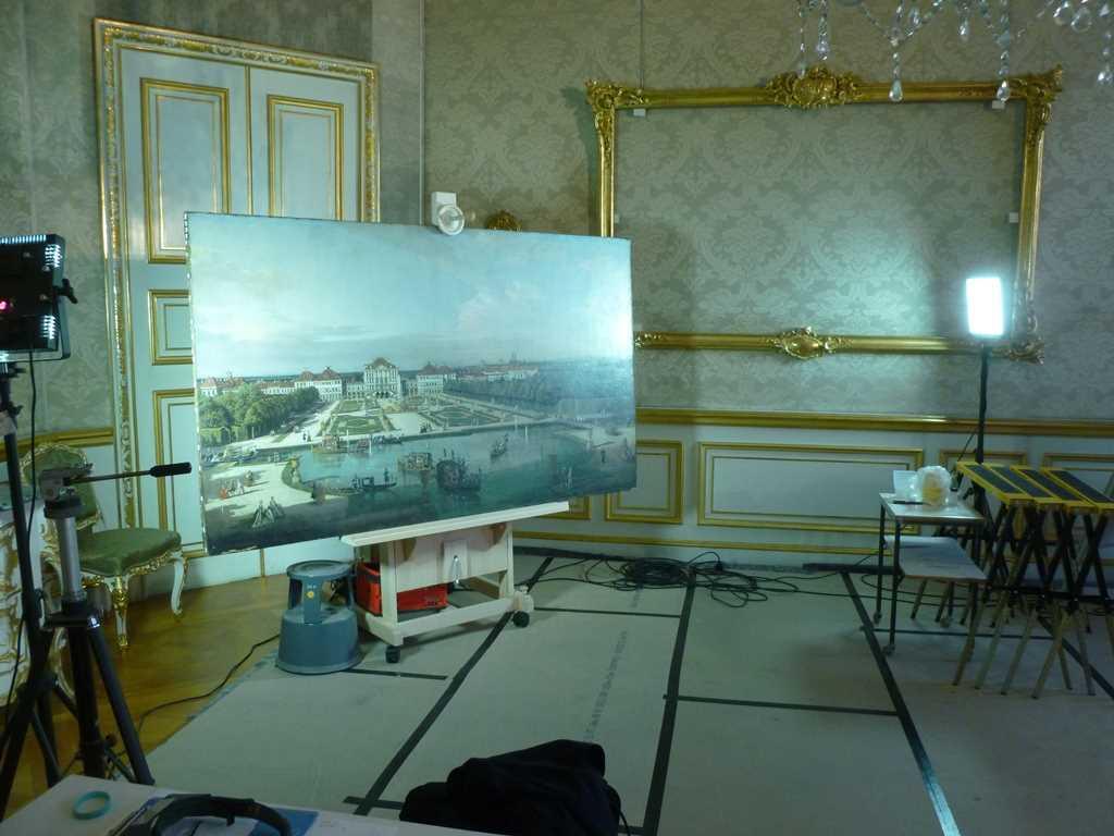 Action im Schauatelier der Kurfürstlichen Zimmer in der Residenz München. [Foto: Bayerische Schlösserverwaltung]