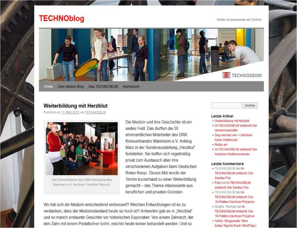 Fortbildungen im TECHNOBlog des TECHNOSEUMS angeschlagen - ein Feuilleton der besonderen Art!