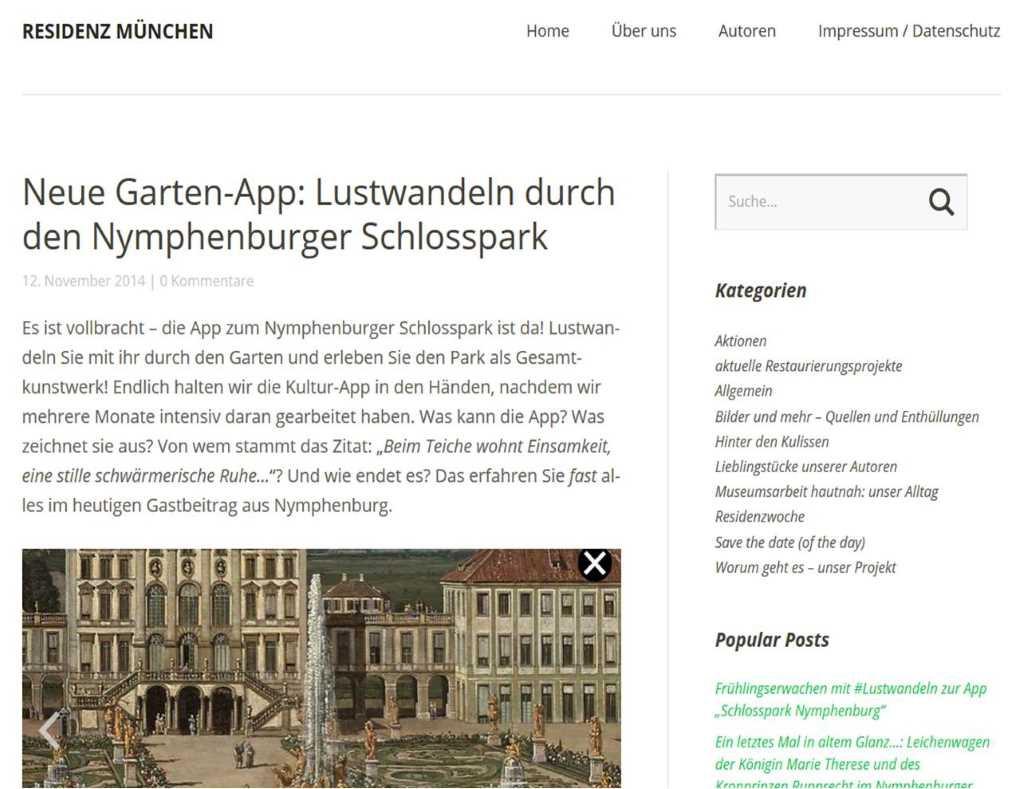 Nymphenburg; Schlosspark App; Lustwandeln