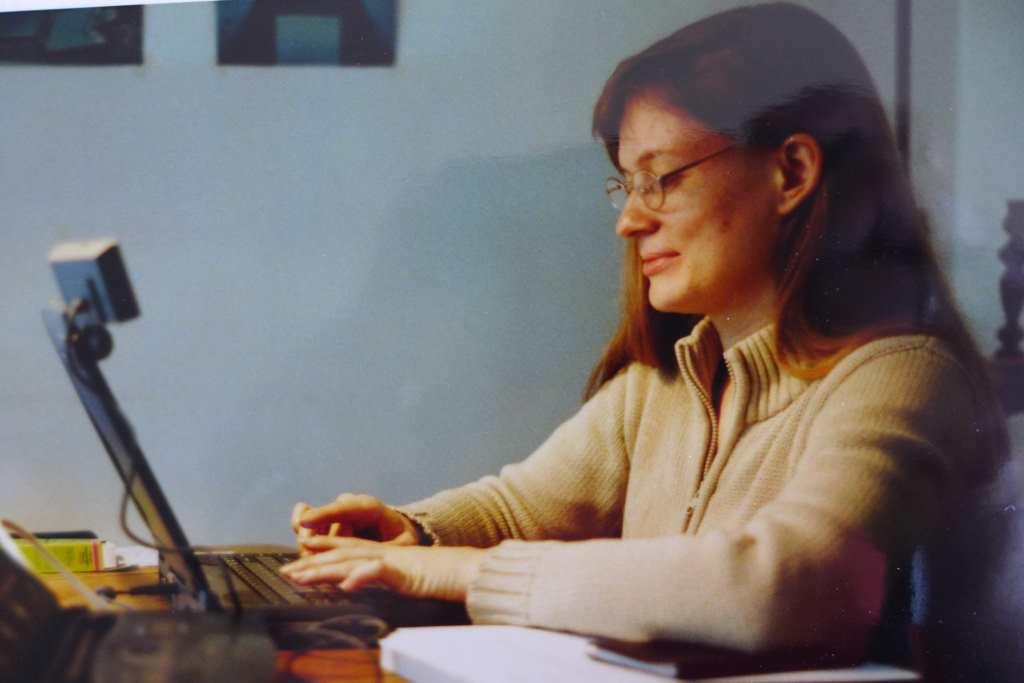 Studienjahr in Paris: Tanja schreibt ihre Maîtrise, 1999, hier beim House-Sitting!
