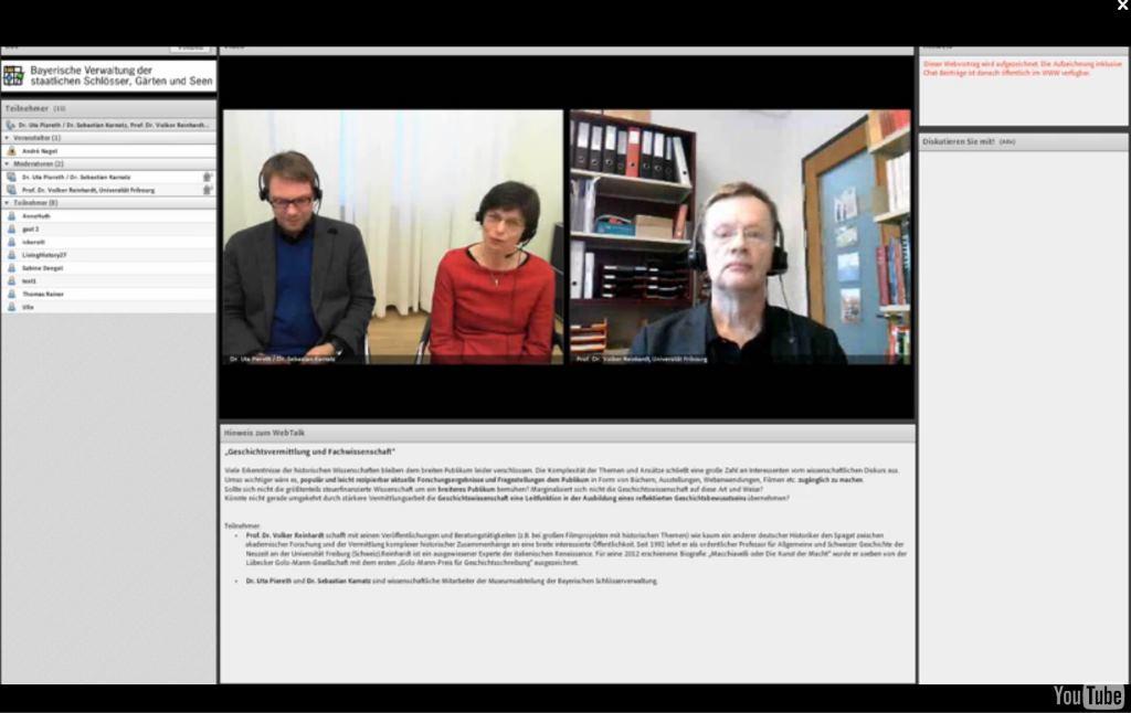 Im Online-Gespräch mit dem Historiker Prof. Dr. Volker Reinhardt