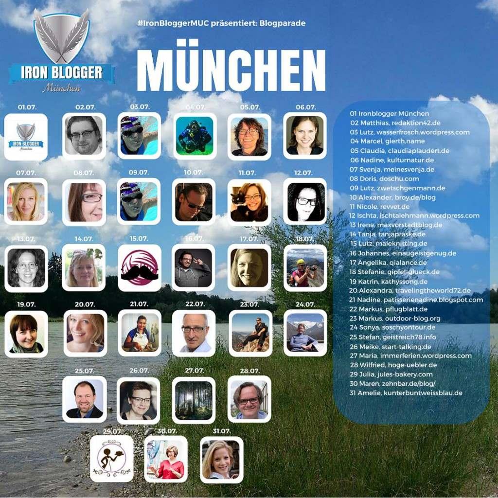 #IronbloggerMuc; Blogparade; München; Svenja Walter
