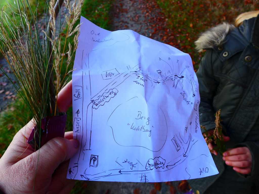 Ausflüge mit Kindern - Daddys selbstgefertigte Wanderkarte - Kahlbergweg im Weserbergland