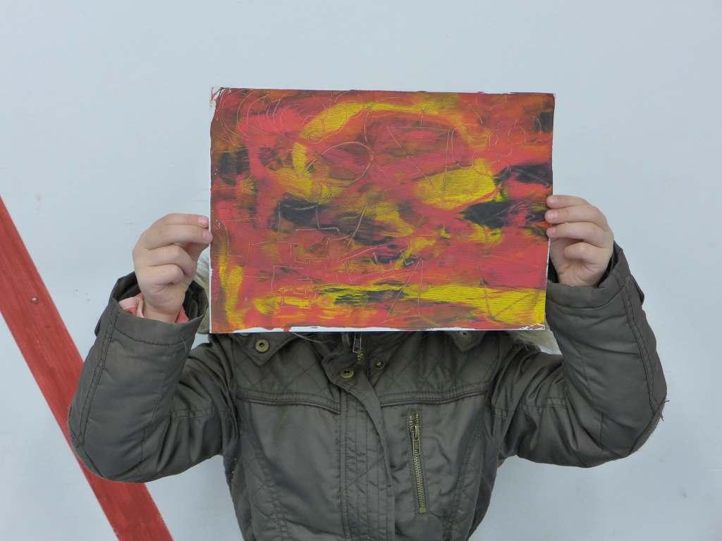 Paul Klees Ölpause; Lenbachhaus; Familienworkshop; Klees Ölpause; Kinderprogramm im Museum; München
