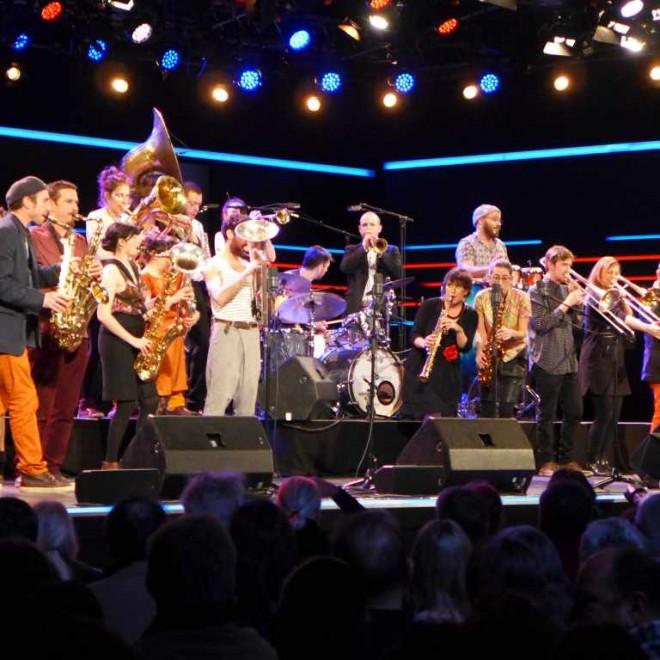 Les Lapins Superstars spielen in der Wackerhalle auf der Jazzwoche Burghausen 2016