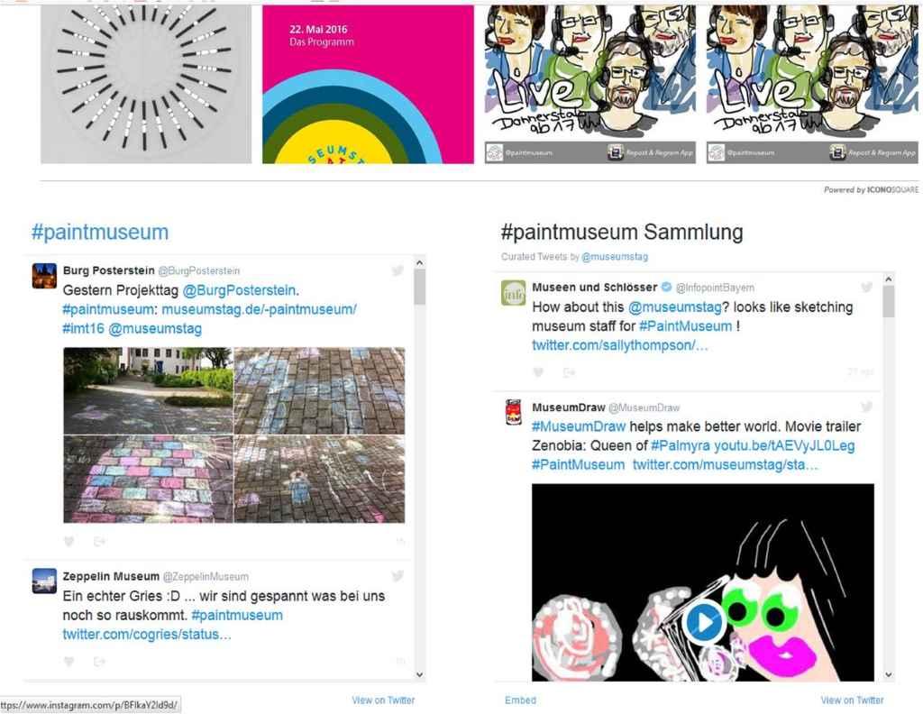 #PaintMuseum findet zum Internationalen Museumstag am 22.5.16 #IMT16 statt.