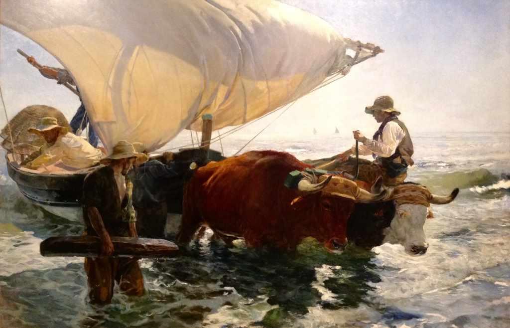 Joaquín Sorolla, Die Rückküehr vom Fischfang, 1894, 265 x 403,5 cm (!), Paris, Musée d'Orsay. Foto: Peter Soemers.