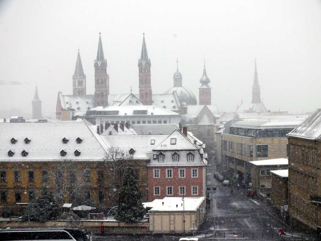 Wuerzburg City im Schnee - #KultTrip. [Foto: Rebecca Hümmer]Martin von Wagner Museum