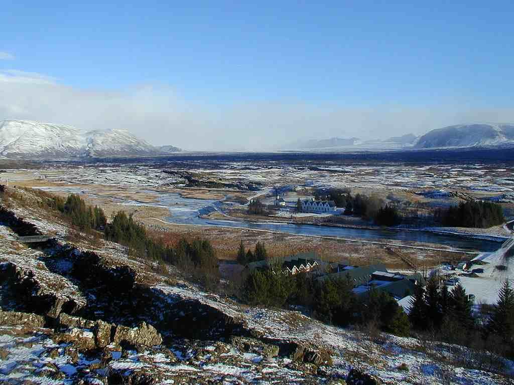 Þingvellir im Winter 2002. Quelle: Wikimedia, Bild von Christian Bickel, CC BY-SA 2.0 de