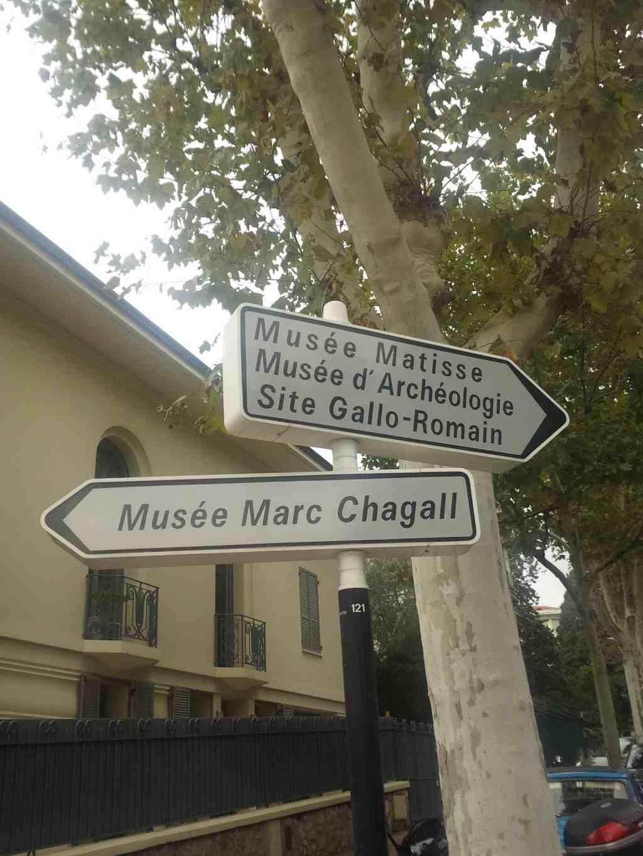 Wegweiser zu den Museen in Nizza, Musée Marc Chagall, Musée Matisse