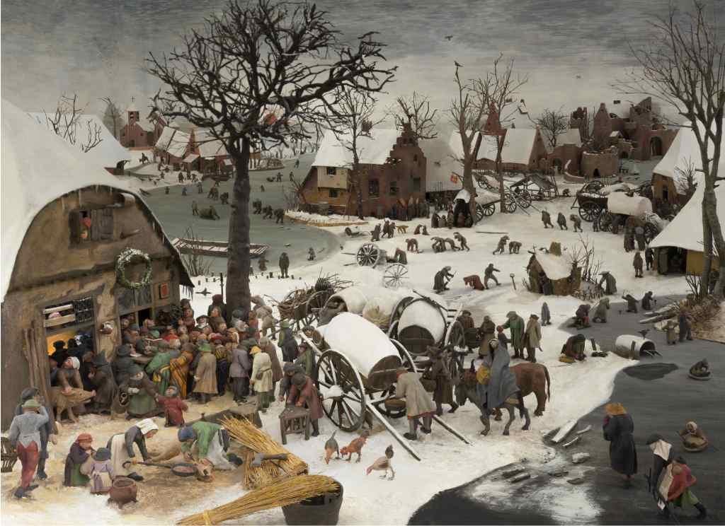 Martina Singer formt das Gemälde des flämischen Künstlers Pieter Brueghel d. Ä. in 3D als Wimmelbild um. Kunstprojekt ausgestellt im Bayerischen Nationalmuseum München.