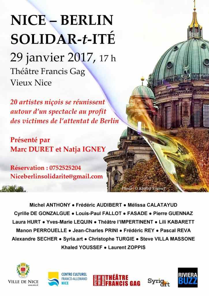 Plakat mit Veranstaltung Solidar-t-itè am 29. Januar 2017.