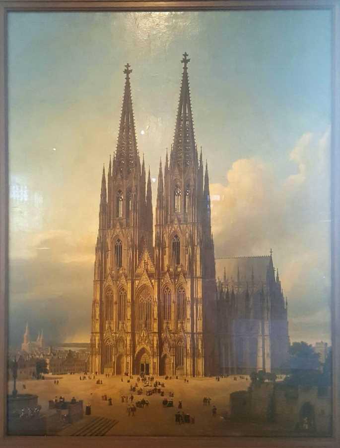 Ölgemälde von Georg Hasenpflug mit Kölner Dom. Kölnisches Stadtmuseum #depotdienstag.