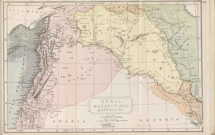 Historische Karte von Syrien