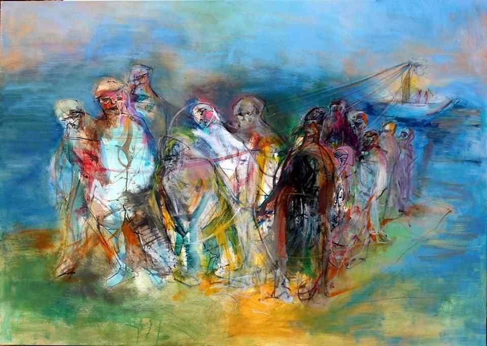 Werk von Obaidah Zorik © Syria.Art