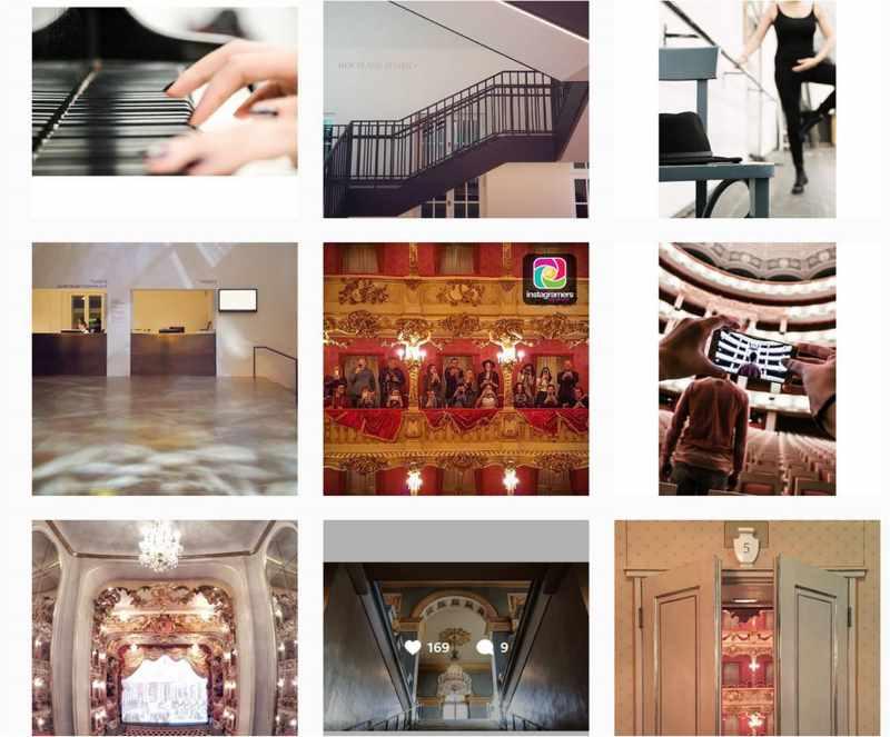 Bildabfolge vom emptywalk der instagramers Munich beim #emptywalk im Cuvilliés-Theater, Oper und Lenbachhaus in München.