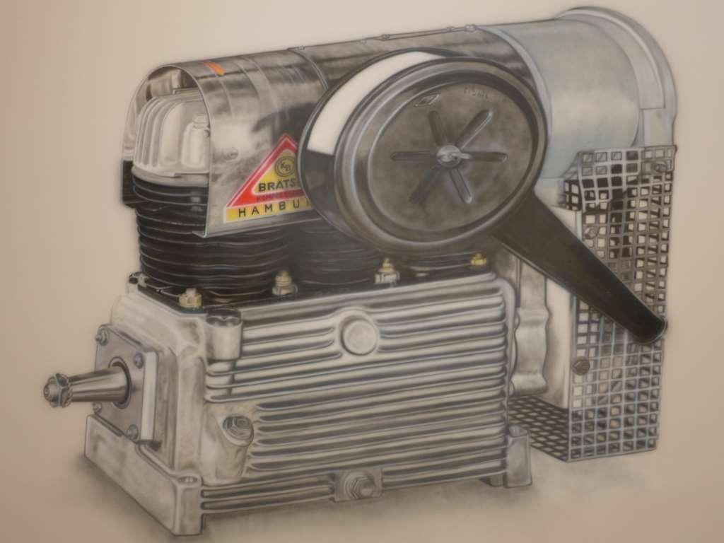 Kompressor von Kerstin Braetsch in der Ausstellung Innovation im Museum Brandhorst.