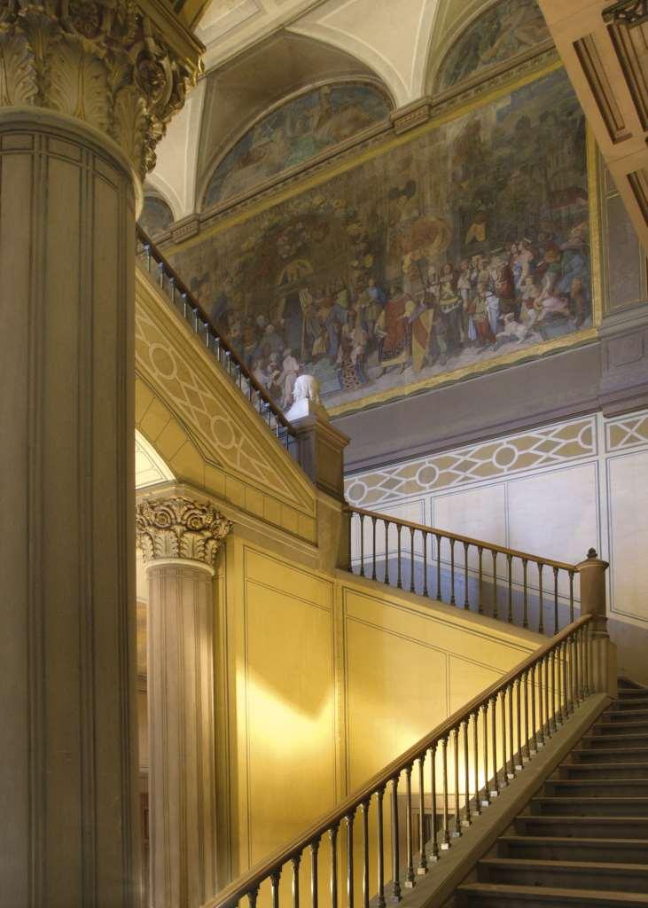 Ausschnitt Treppenaufgang Miguletz in der Kunsthalle Karlsruhe. Kulturblick einmal anders. Beitrag Kunsthalle Karlsruhe zur Blogparade #KultBlick