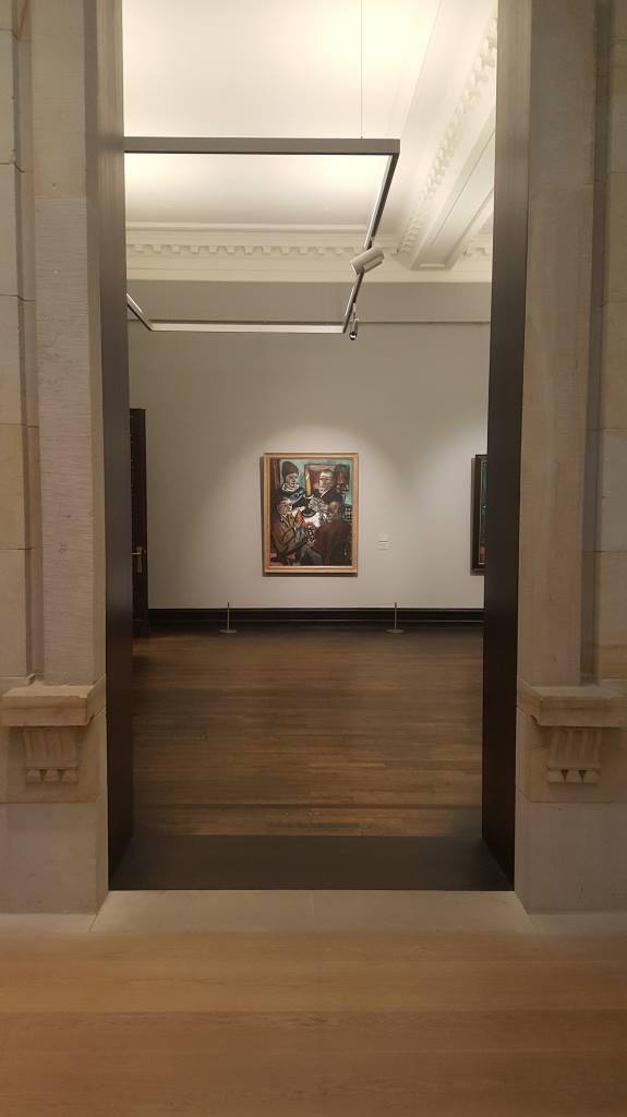 Blick auf Bild von Max Beckmann, Ausstellung Welttheater in der Kunsthalle Bremen. Foto: Luca Jacobs