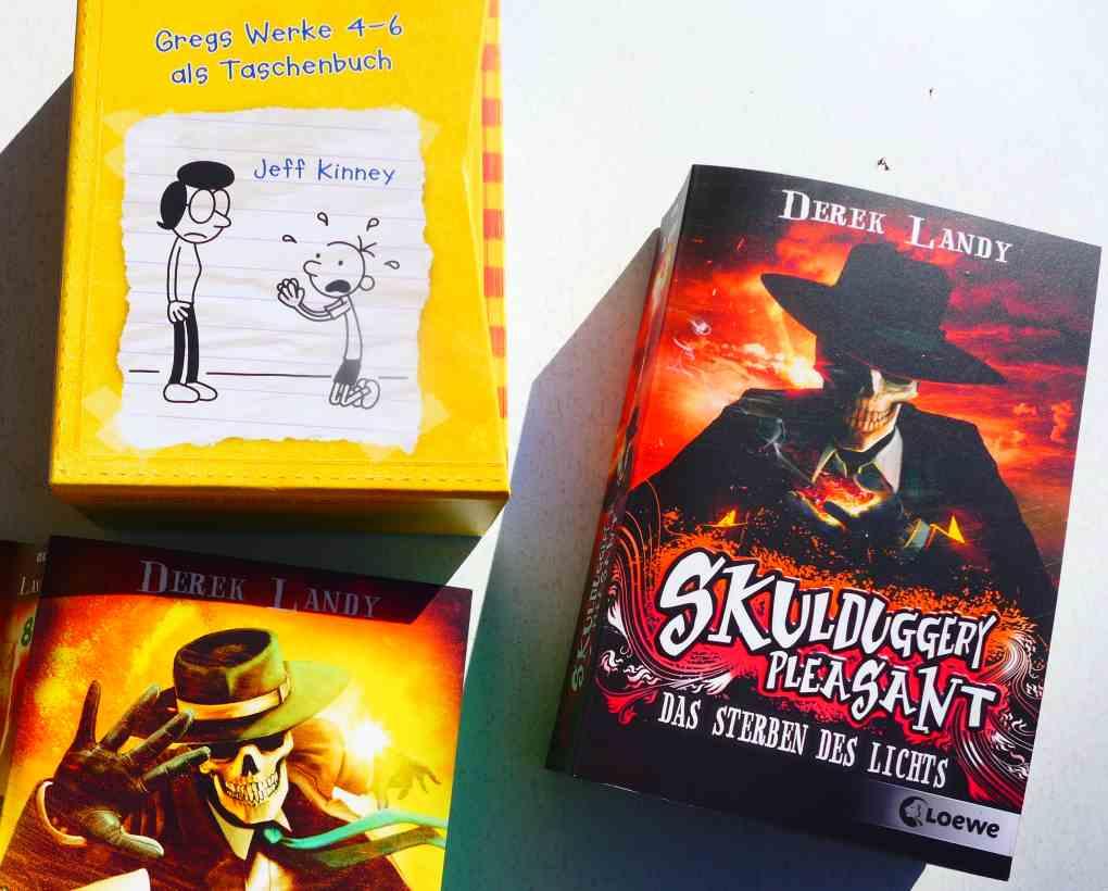 Drei Bücher: Gregs Tagebuch und Skulduggery Pleasant