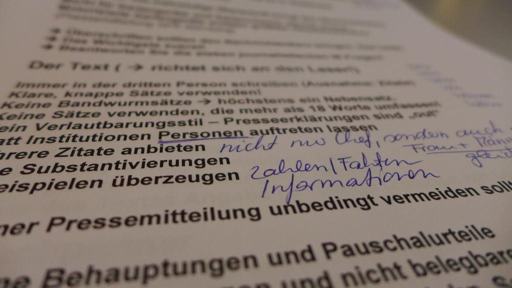 Checkliste für Pressemitteilungen, Aufbau und Umsetzung.