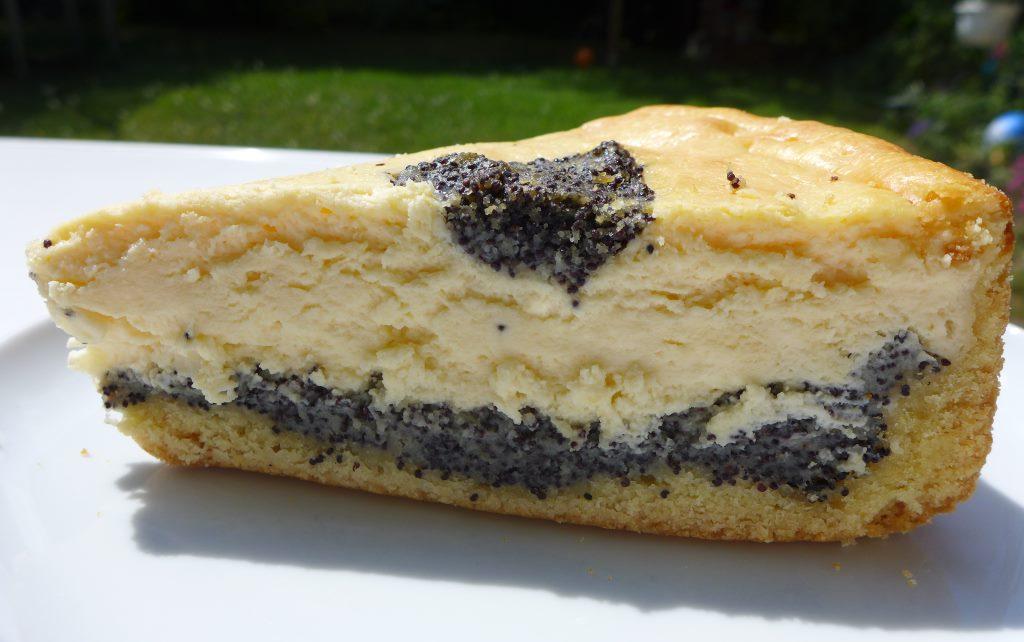 Stück Mohn-Käse-Kuchen.
