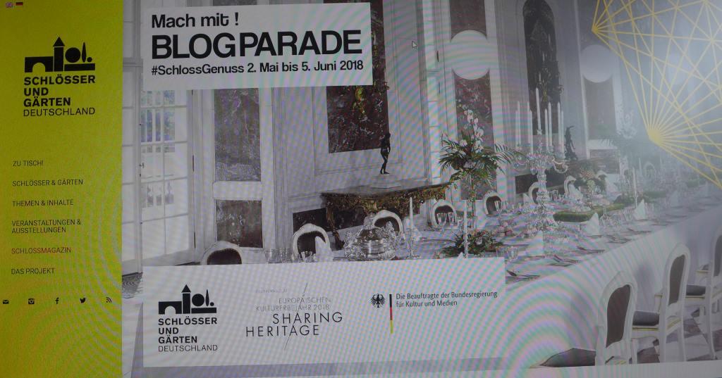"""Screenshot von der Blogparade #SchlussGenuss von Schlösser und Gärten in Deutschland e.V. und dem Projekt """"Zu Tisch!"""""""