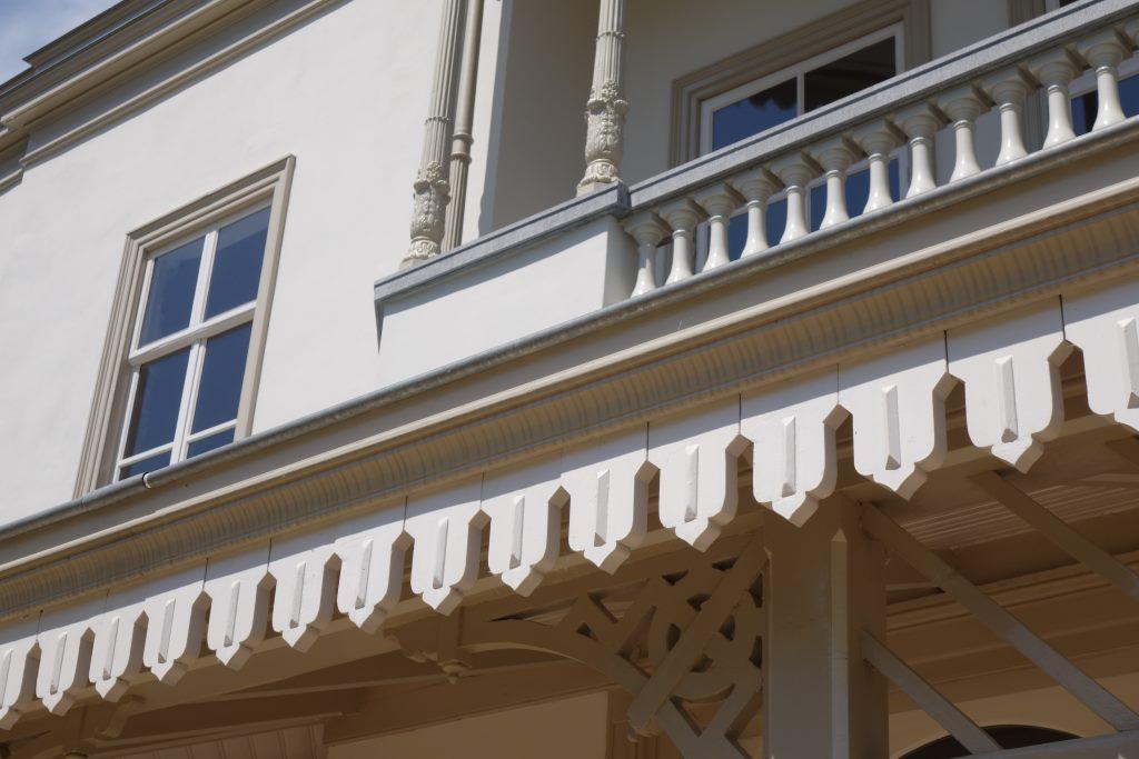 Detail des Landhauses nach der Restaurierung