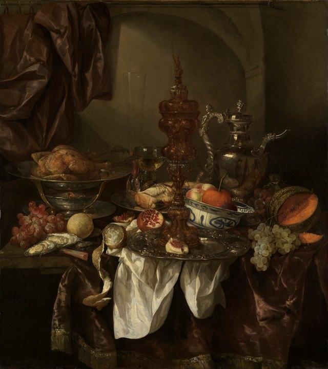 Abraham van Beyeren, Prunkstillleben, um 1660 © Staatliche Kunsthalle Karlsruhe