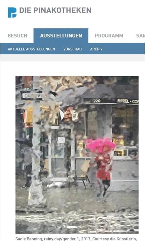Screenshot Sadie Benning in der neuen Pinakothek. Ausstellungen in München im Sommer 2018