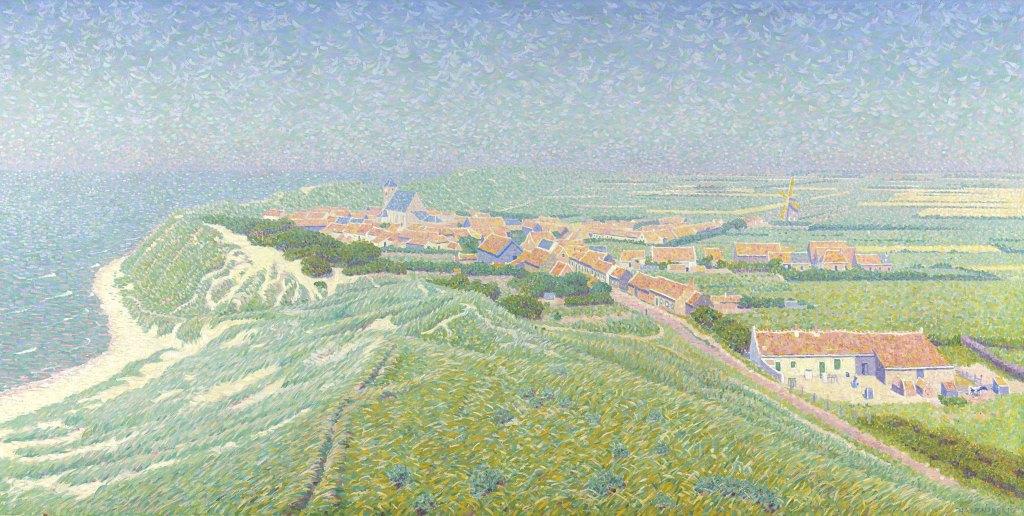 """Gezicht op het dorp Zoutelande op Walcheren"", Ferdinand Hart Nibbrig, 1900-1912, Ölgemälde; Sammlung Rijksmuseum (Amsterdam), gemeinfrei. Über Europeana"