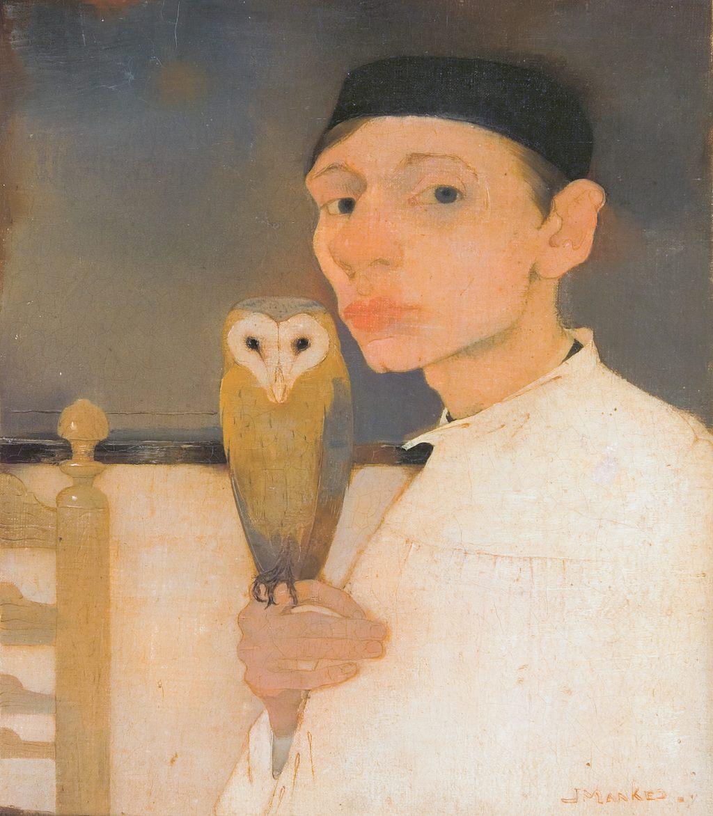 "Jan Mankes, ""Selbstportrait mit Eule"", 1911"