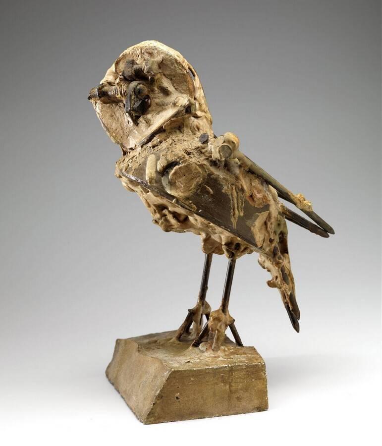 """Pablo Picasso, """"Petite chouette / Kleine Eule"""", 1951 - 1953. Gips, Keramik, Metall, Schellack. Sammlung Kröller-Müller Museum, mit freundlicher Genehmigung."""