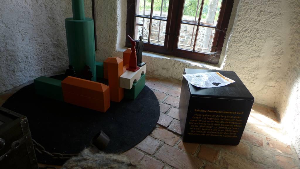 Die Spielecke auf Burg Posterstein fordert zum Erkunden auf - (er)fassen, verändern und Spaß haben. Ein Salon für die Kleinen ist hier gewährt. Würfel.