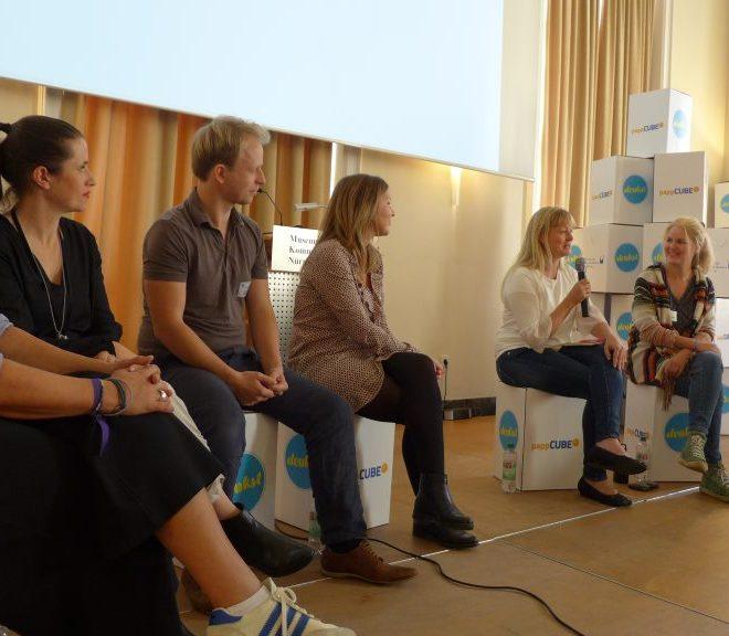 Podiumsdiskussion über wert-voll bloggen auf der #denkst18, der Elternbloggerkonferenz in Nürnberg.